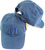 New York Yankees MLB American Needle Tonal Ballpark Slouch Cotton Twill Adjustable Hat (Navy)