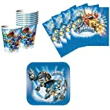 Skylanders Birthday Party Supplies Set Plates Napkins Cups Kit for 16 by DesignWare
