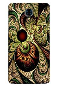 Omnam Green Old Effect Printed Designer Back Case For OnePlus Three