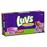 Luvs Premium Stretch Diapers with Ultra Leakguards with Ultra Leakguards, Newborn (4-10 Lbs), 38 Count (152 Count (Pack of 4)