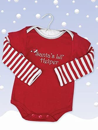"Bearington Baby ""Santa's Lil' Helper"" Onesie"