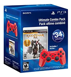 Ultimate Combo Pack: God of War Saga & Red DUALSHOCK3 wireless controller - Playstation 3