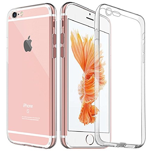 COOLOO iPhone6S ケース iPhone6 ケース iPhone6S plus TPUメッキ加工 超薄型耐衝撃 最軽量 一体型 耐久性が高い 電波影響無し 取り出し易い クリアタイプ TPU 透明 カバー アイフォン6s/6/plus対応 全五色(iPhone6/6s クリア)