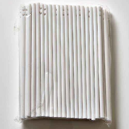 100-x-114mm-45-Plastique-Blanc-Lollipop-Btonnets-pour-Chocolat-Moules-Gteau-Boules-et-Sucettes