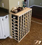 VinoGrotto 48 Bottle Table Wine Rack (Pine) by VinoGrotto - Exclusive 12 inch deep design conceals entire wine bottles. Hand-sanded to perfection!, Pine