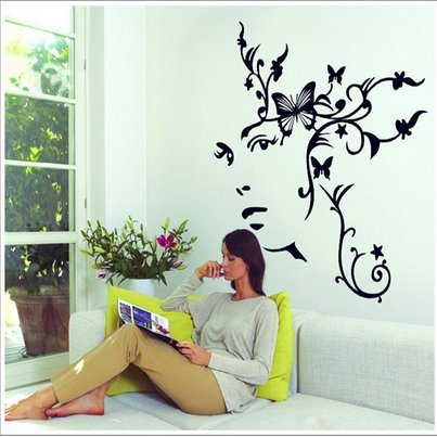 Removable Dance Room Music Room Living Room Television Background Pvc Wall Stickers Romantic Flower Vine front-1014383