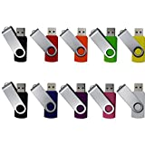 E-Soar USB3.0 10 Pack 8GB Usb Flash Drive Memory Stick Pen Drive Multi Color