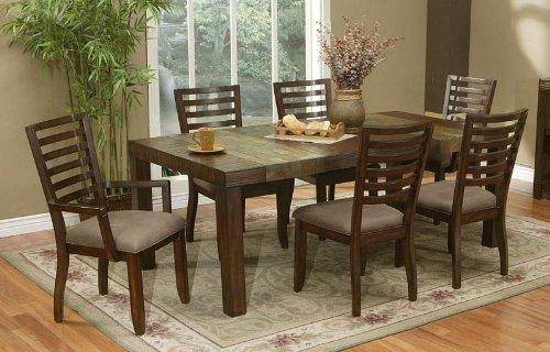 Buy low price alpine furniture 7pcs formal dining table for Formal wood dining table