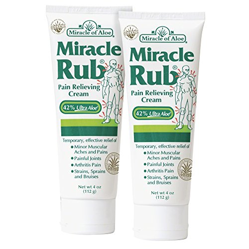 Miracle Rub Pain Relieving Cream 4 Oz - 2 Pack Miracle Pain Relieving Cream Penetrates Deep and Provides Soothing Pain Relief Quick! (Erythromycin Cream compare prices)