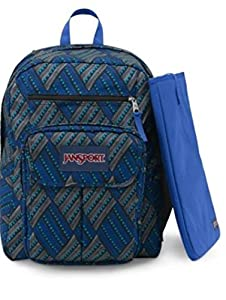 JanSport Digital Student Backpack (Blue Streak Tropic Chomp)