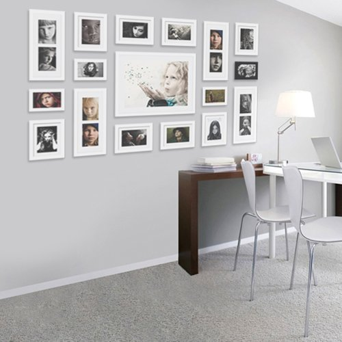 yanksmart wall hanging art home decor modern gallery 17 piece wood multi piece photo