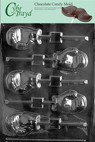 Cybrtrayd S050 Boxing Glove Lolly Chocolate Candy Mold with Exclusive Cybrtrayd Copyrighted Chocolate Molding Instructions (Candy Making Gloves compare prices)
