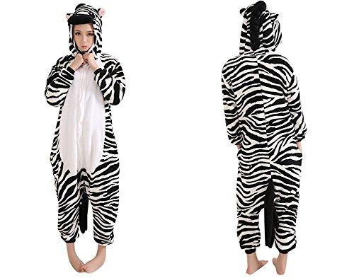 Molly Kigurumi Pigiama Adulto Anime Cosplay Halloween Costume Attrezzatura_Zebra_S