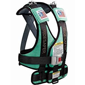 Safe Traffic Systems GD10201GWB Safe Rider Travel Vest Large 50 - 80 lb and 45 - 57 Inches - Green