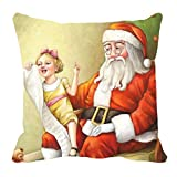 MeSleep Merry Christmas Cushion Covers In Digital Print - B018K9JZFI