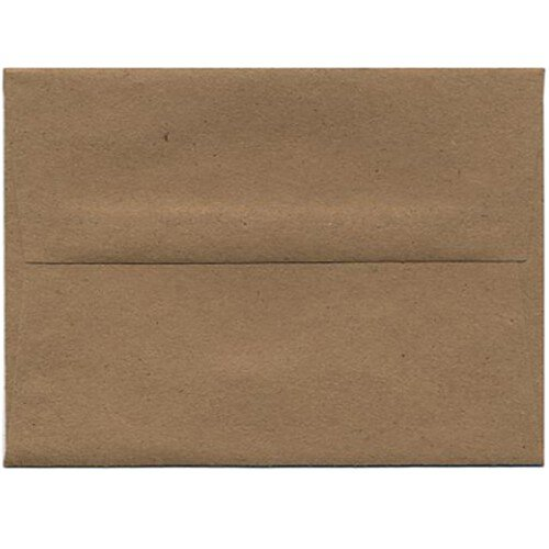 Image of JAM Paper® - A7 (5 1/4 x 7 1/4) Brown Kraft Paper Bag 100% Recycled Envelope - 25 envelopes per pack