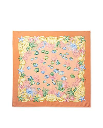 Brooks Brothers Women's Floral Scarf, Orange As You See