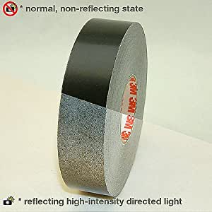 3M Scotchlite Reflective Striping Tape, Black, 1-Inch by 50-Foot