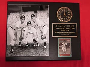 1959 Chicago White Sox Collectors Clock Plaque w 8x10 RARE Photo and Card by J & C Baseball Clubhouse