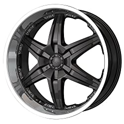 22×9.5 DIP Wicked (D39) (Black w/ Machined Lip) Wheels/Rims 5×115/127 (D39-22917B)