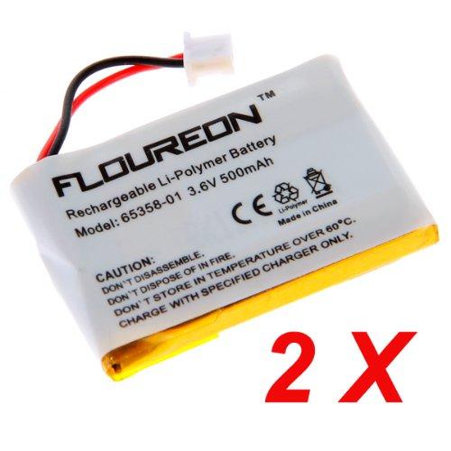 2 Packs Floureon 3.6V 500Mah Li-Polymer Rechargeable Battery For Plantronics Wireless Headset Cpp-512Q, Cs50, Cs50-Usb, Cs55, Cs60, Cs60-Usb