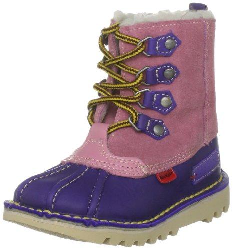Kickers Junior K Nanuq Sued If Pink  &  Purple Classic Boot 1-10798 11 Child UK, 29 EU