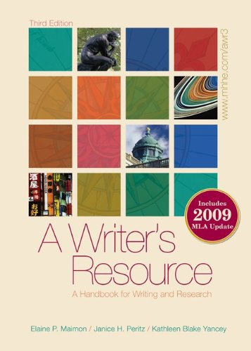 A Writer's Resource 2009 APA & MLA Update, Student...