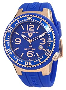 Swiss Legend Men's 21848P-RG-03 Neptune Blue Dial Blue Silicone Watch