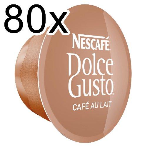 80 x Nescafé Dolce Gusto Capsules Café au lait 80 Capsules
