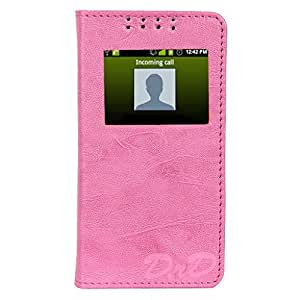 D.rD Flip Cover with screen Display Cut Outs designed for LG Magna