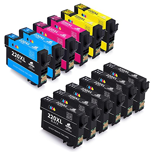 12-Pack Epson 220XL T220 Ink Cartridge Replacement Works with Epson WorkForce WF 2650 WF-2630 WF-2660 WF-2750 WF-2760 XP-320 XP-420 XP-424 Printers