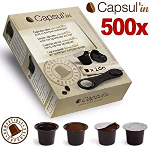 Find 500x Empty Capsul'in Nespresso Compatible Capsule Pods Coffee Catering Bulk Pack from Capsul'in