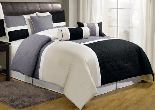 Gray Bedding Sets King 8740 front
