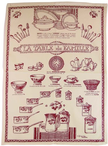 Tableware old terms French figural print tea dish towel RED - Buy Tableware old terms French figural print tea dish towel RED - Purchase Tableware old terms French figural print tea dish towel RED (CF, Home & Garden, Categories, Kitchen & Dining, Kitchen & Table Linens, Dish Cloths & Dish Towels)