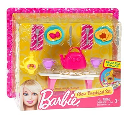 BARBIE? Accessory Pack Assortment Glam Breakfast by Mattel (English Manual)