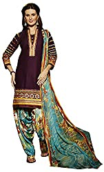 Go Traditional Women's Cotton Unstitched Dress Material (Purple)