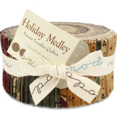 Moda Holiday Medley Jelly Roll Quilt Strips