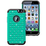 myLife Emerald Green {Shockproof Hybrid Design} 2 Layer Hybrid Case for the NEW iPhone 6 (6G) 6th Generation Phone... by myLife Brand Products