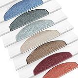 Kit de 15 marchettes d'escalier casa pura® modèle Rom | taille 23x65cm - couleurs diverses | autocollantes | bordeaux...