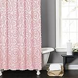 Lush Decor Stella Shower Curtain, 72 by 72-Inch, Pink