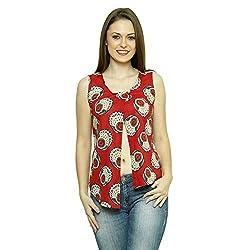 LEBE Women's casual printed sleevless cotton top
