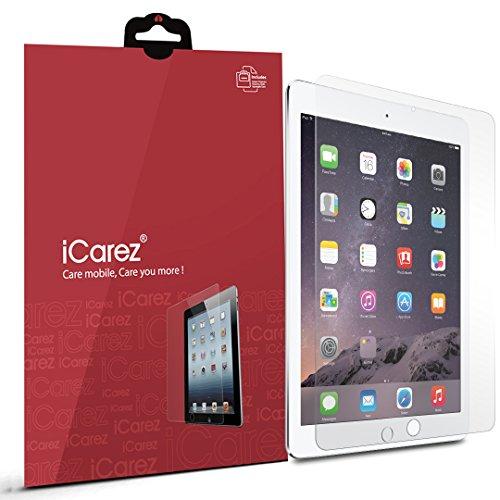 iCarez Anti-Glare/Anti-Fingerprint Matte Finish Screen Protector for iPad Pro / Air 2 / Air - 2 Pack - Retail Packaging