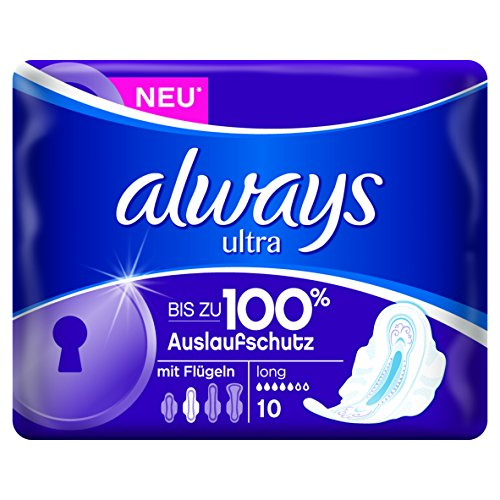 Always Ultra Long Plus - Assorbenti igienici con ali e ActiPearls(TM) neutralizza odori, 3 x 10 pezzi
