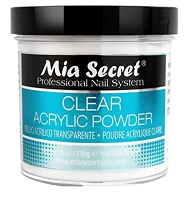 Mia Secret Professional Acrylic Nail System Clear Acrylic Powder 4 oz