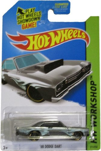 Hot Wheels 2014 Heat Fleet Hw Workshop Grey '68 Dodge Dart 211/250 - 1