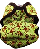 Kissa's Diaper Print Cover, Monkey