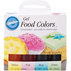 Wilton Gel Food Color Set, Primary
