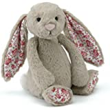 Jellycat - Blossom Bashful Bunny Beige - Baby Soft Toy small - 18cm