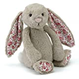 Jellycat - Blossom Bashful Bunny Beige - Baby Soft Toy small - 18cmby Jelly Cat