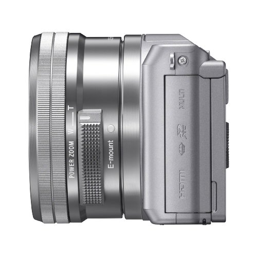 Sony Alpha a5000 20.1 MP Interchangeable Lens Camera with 16-50mm OSS Lens (Silver) Discount